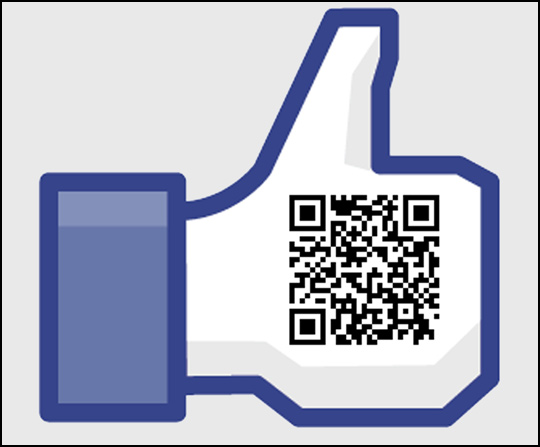 Update on qr codes a facebook like link built into a qr code sciox Choice Image