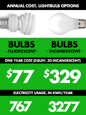 lightbulb savings