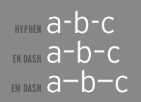 types of dashes